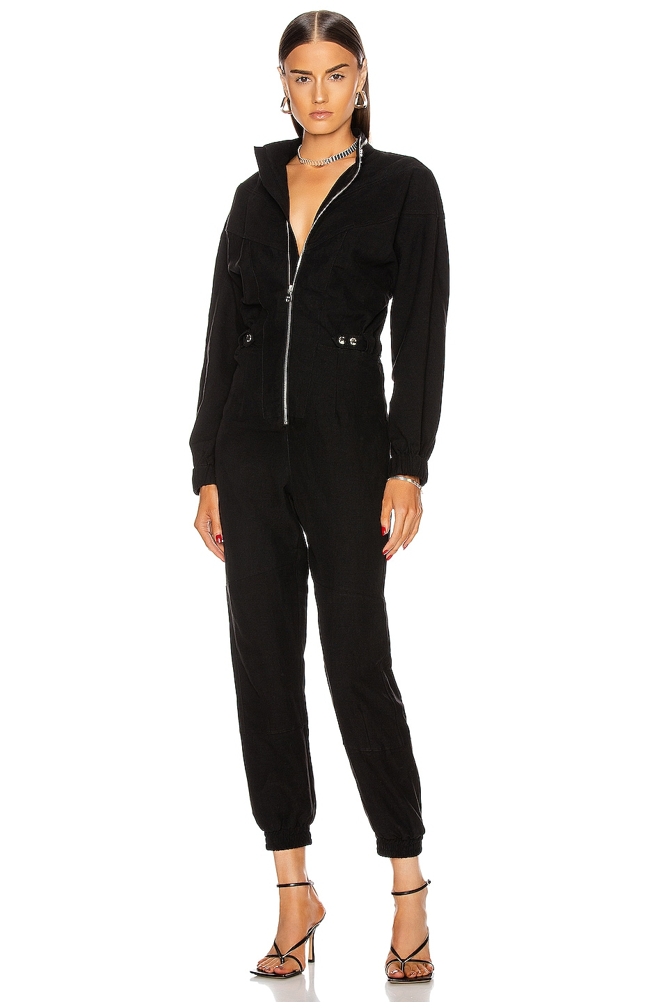Image 1 of RtA Halima Jumpsuit in Black
