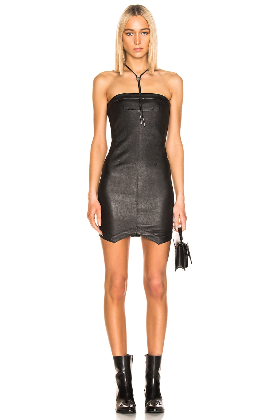Image 1 of RtA Wylde Leather Dress in Nightlift 2