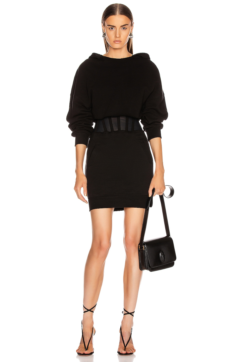 Image 1 of RtA Bailey Sweater Dress in Black