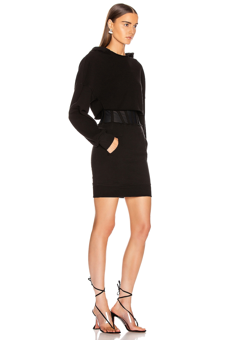 Image 2 of RtA Bailey Sweater Dress in Black
