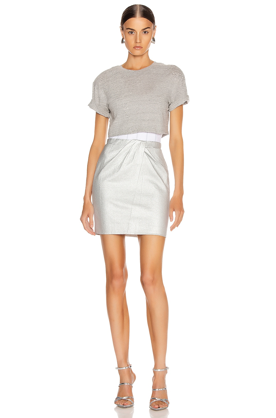 Image 1 of RtA Naomi Dress in Sound Silver
