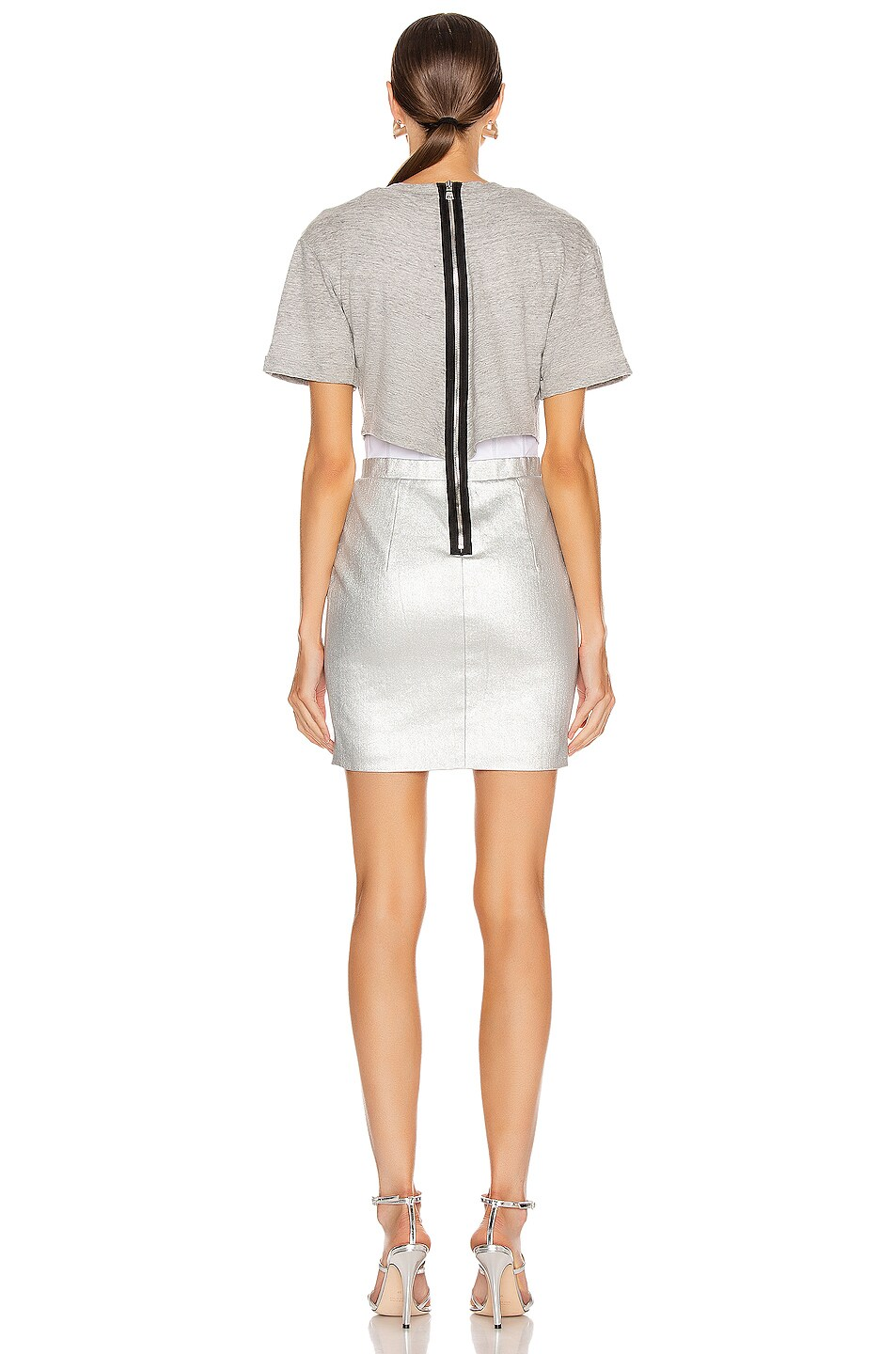 Image 3 of RtA Naomi Dress in Sound Silver
