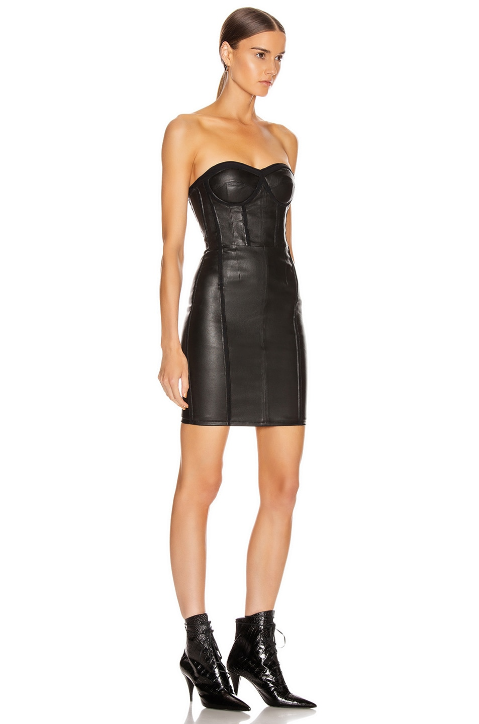 Image 2 of RtA Gwenyth Leather Dress in Black