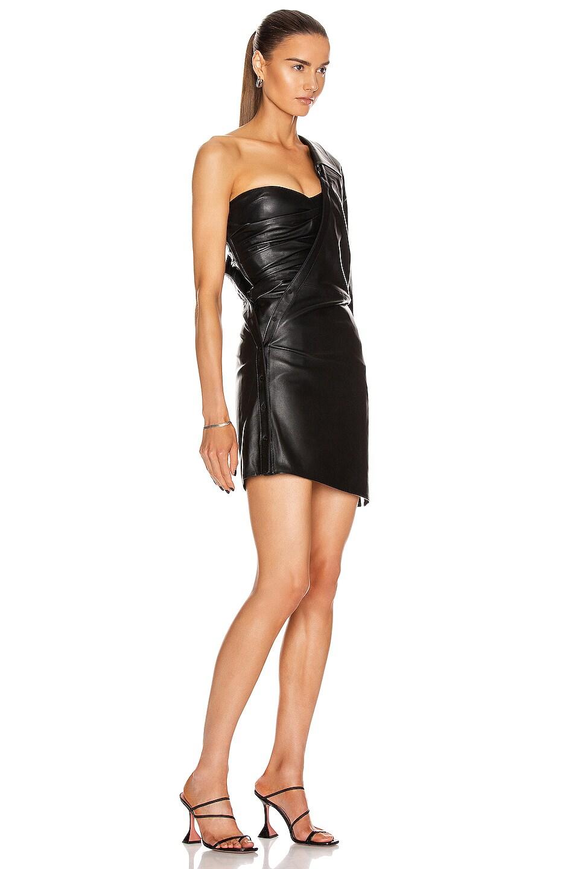 Image 2 of RtA Lana Shirt Dress in Black