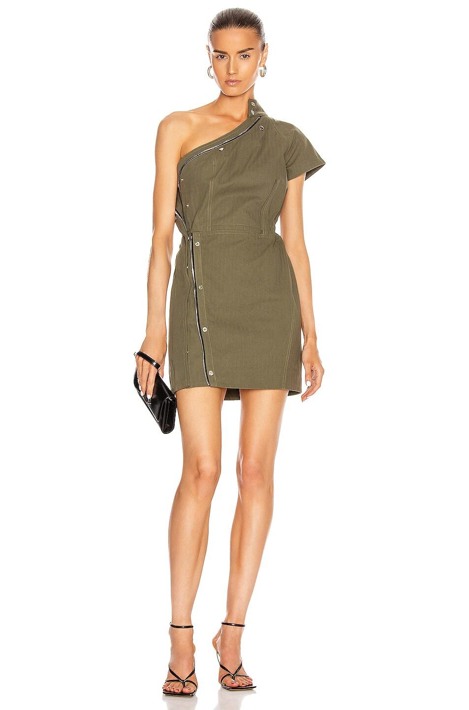 Image 1 of RtA Sivan Dress in Tomboy Green