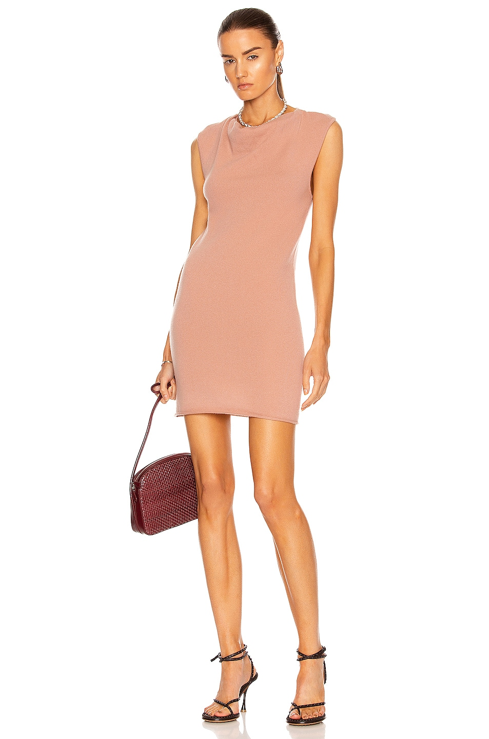 Image 1 of RtA Leana Cashmere Dress in Dusty Coral