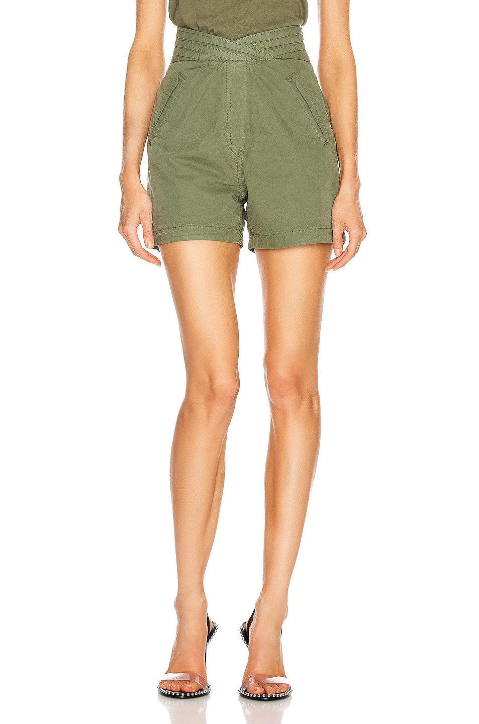 Image 1 of RtA Ellena Short in Military Green
