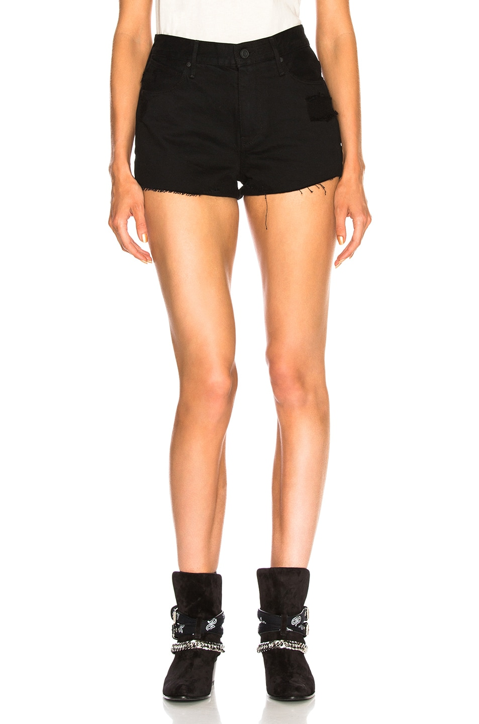 Image 1 of RtA Ace Shorts in Prime Black