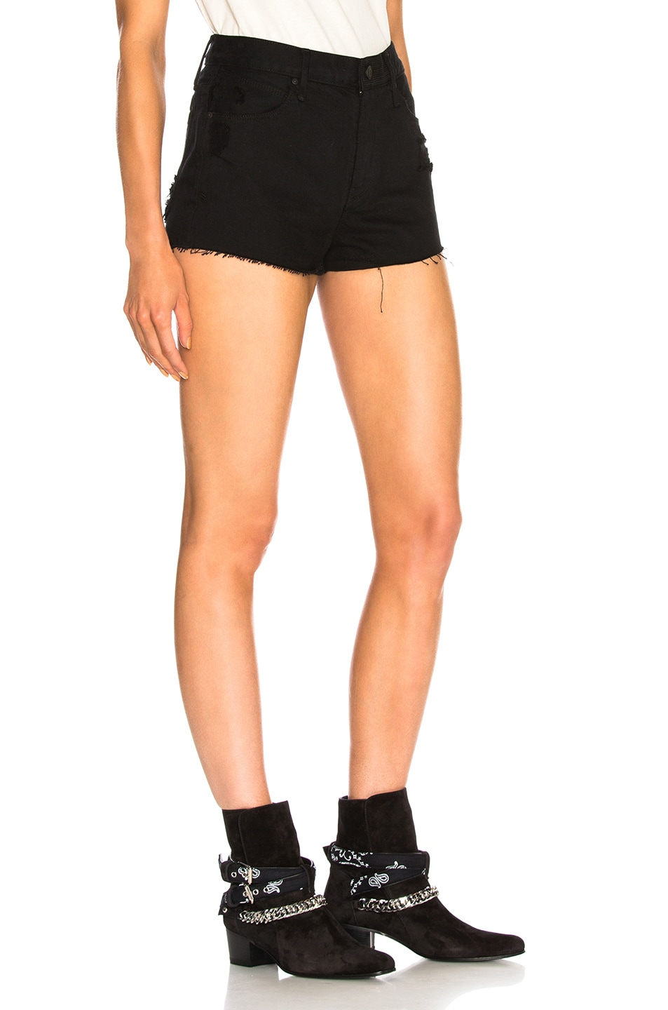 Image 2 of RtA Ace Shorts in Prime Black