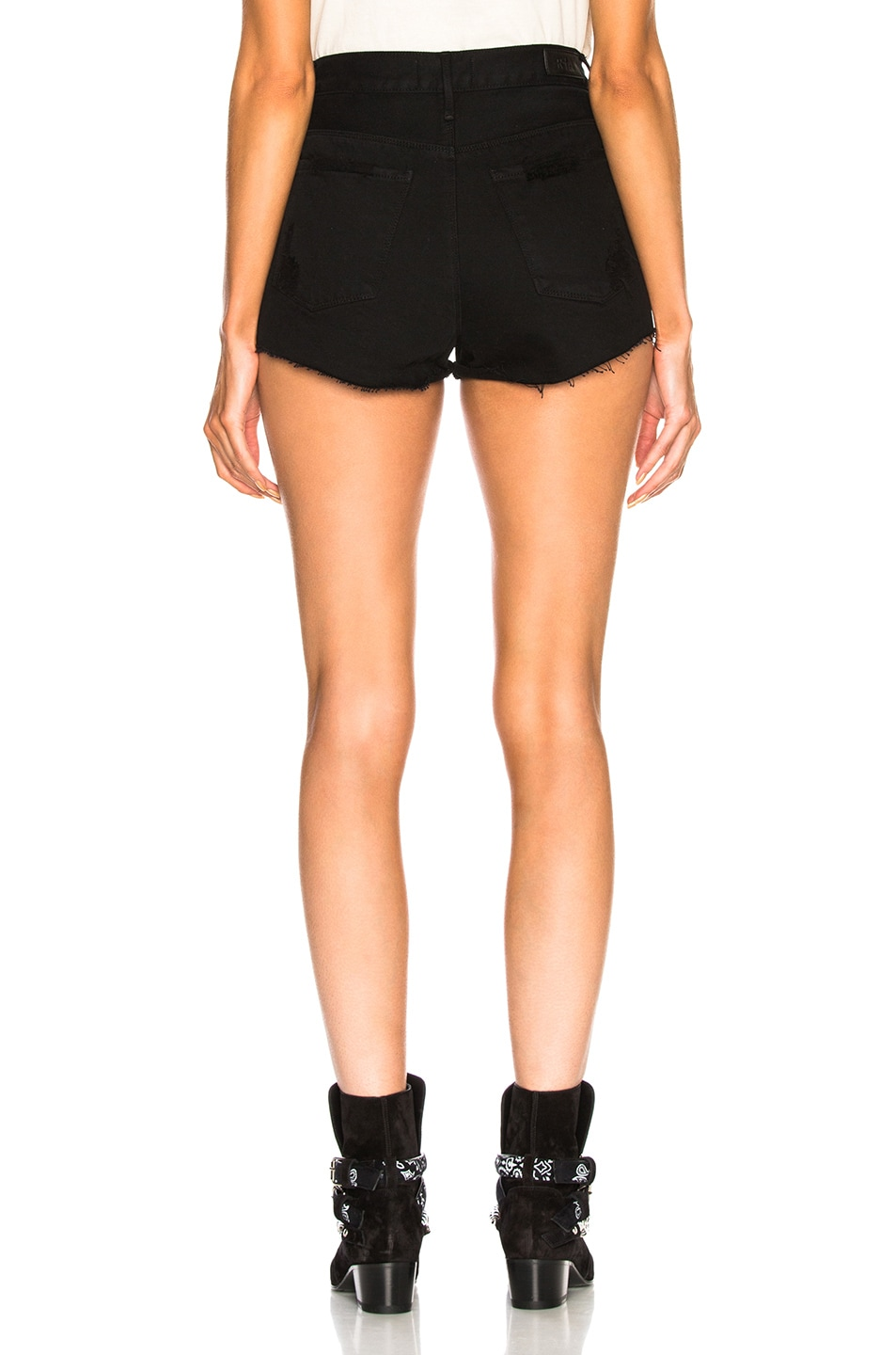 Image 3 of RtA Ace Shorts in Prime Black