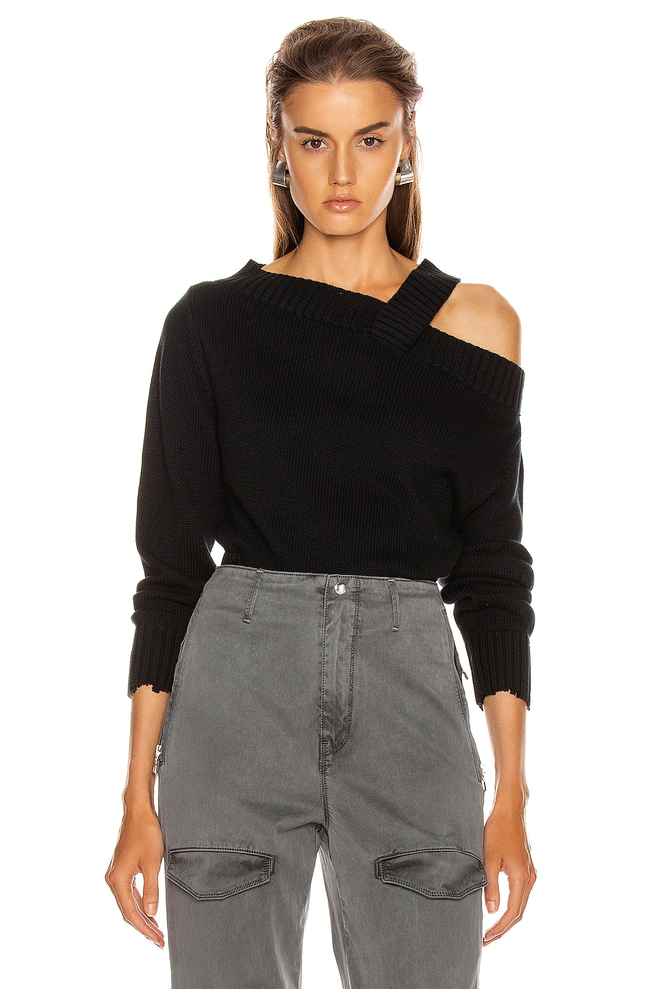 Image 1 of RtA Beckett Sweater in Black Speck