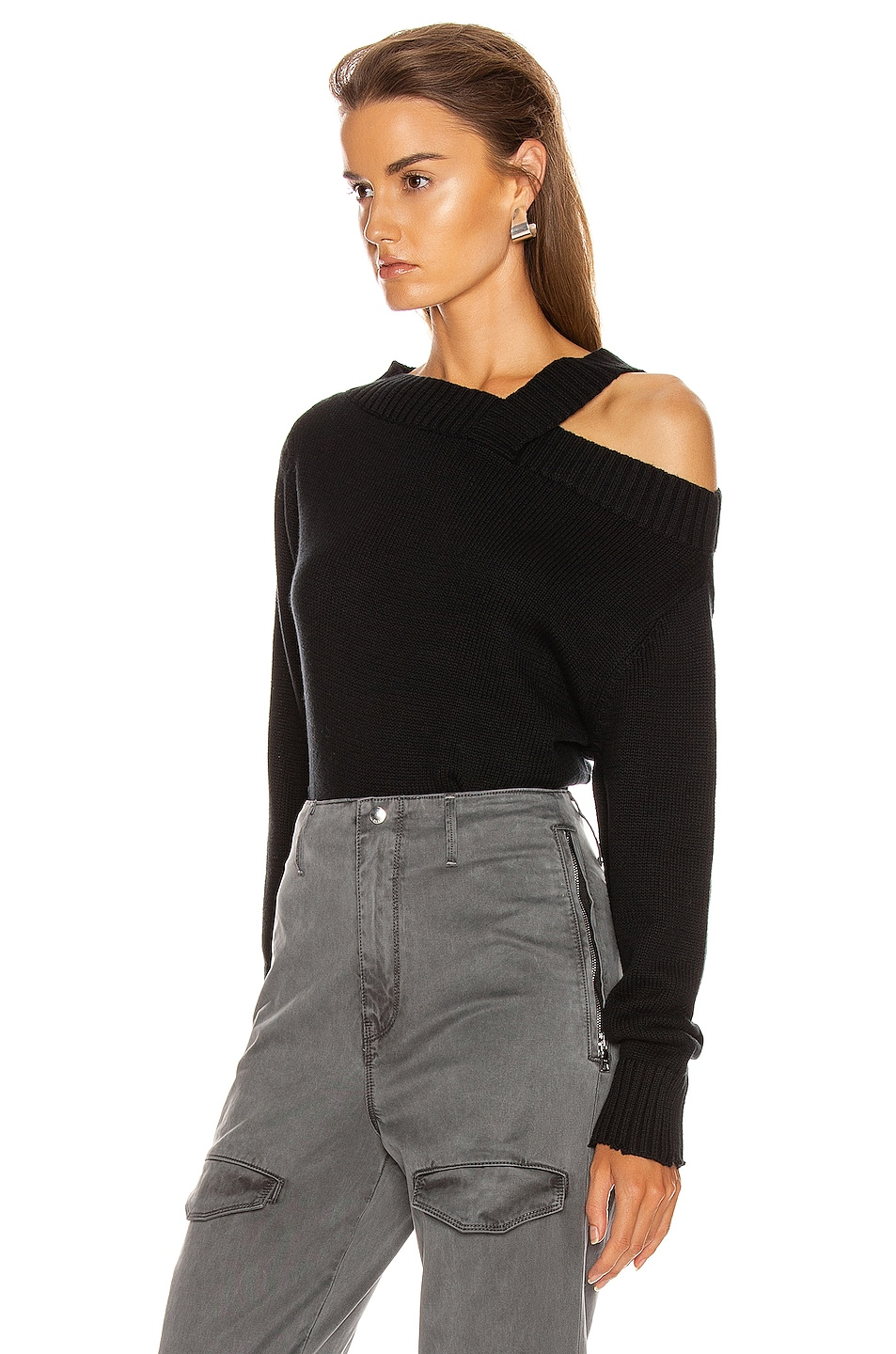 Image 3 of RtA Beckett Sweater in Black Speck