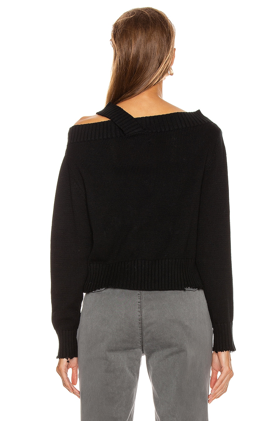 Image 4 of RtA Beckett Sweater in Black Speck