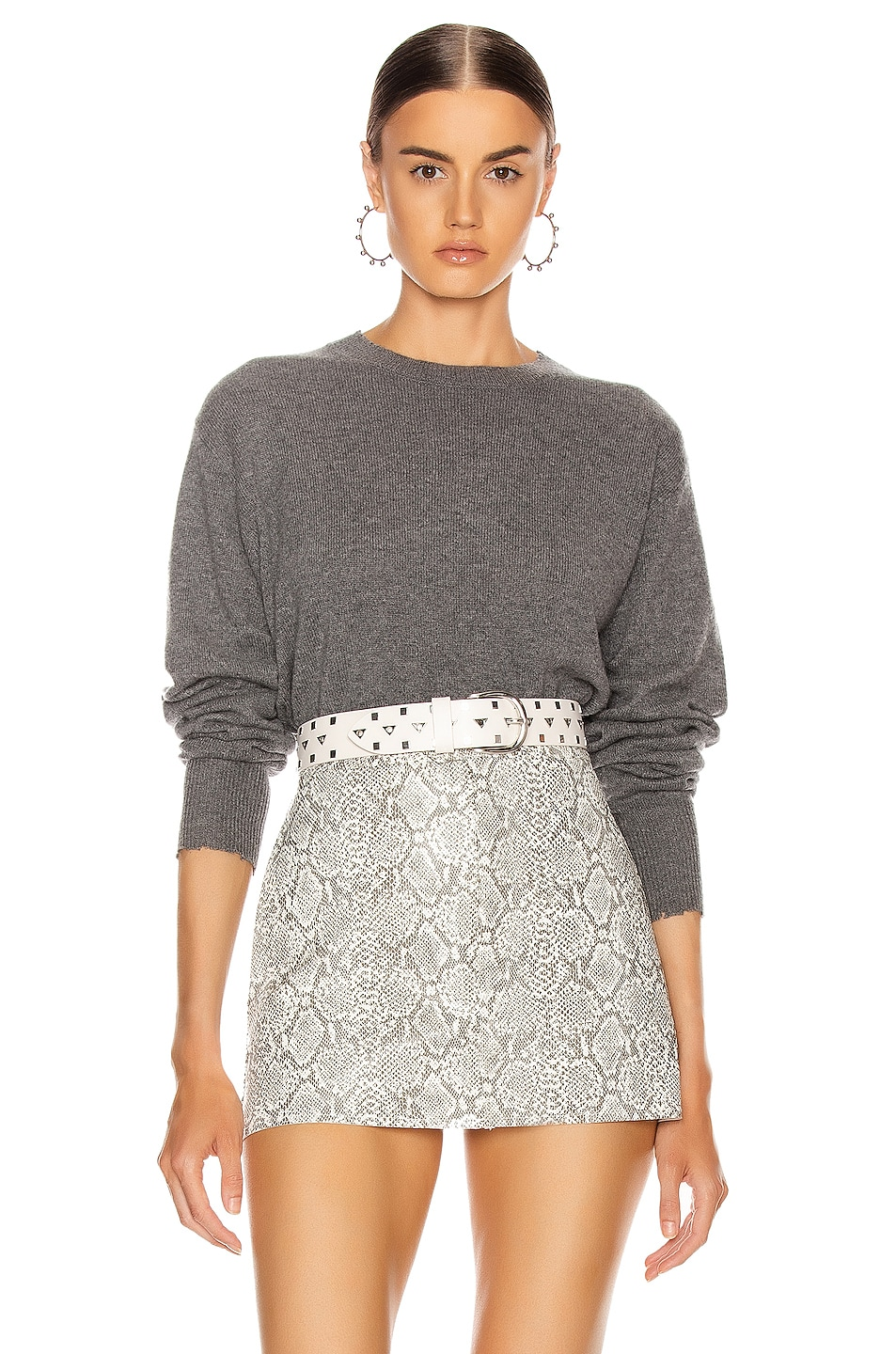 Image 1 of RtA August Sweater in Heather Grey
