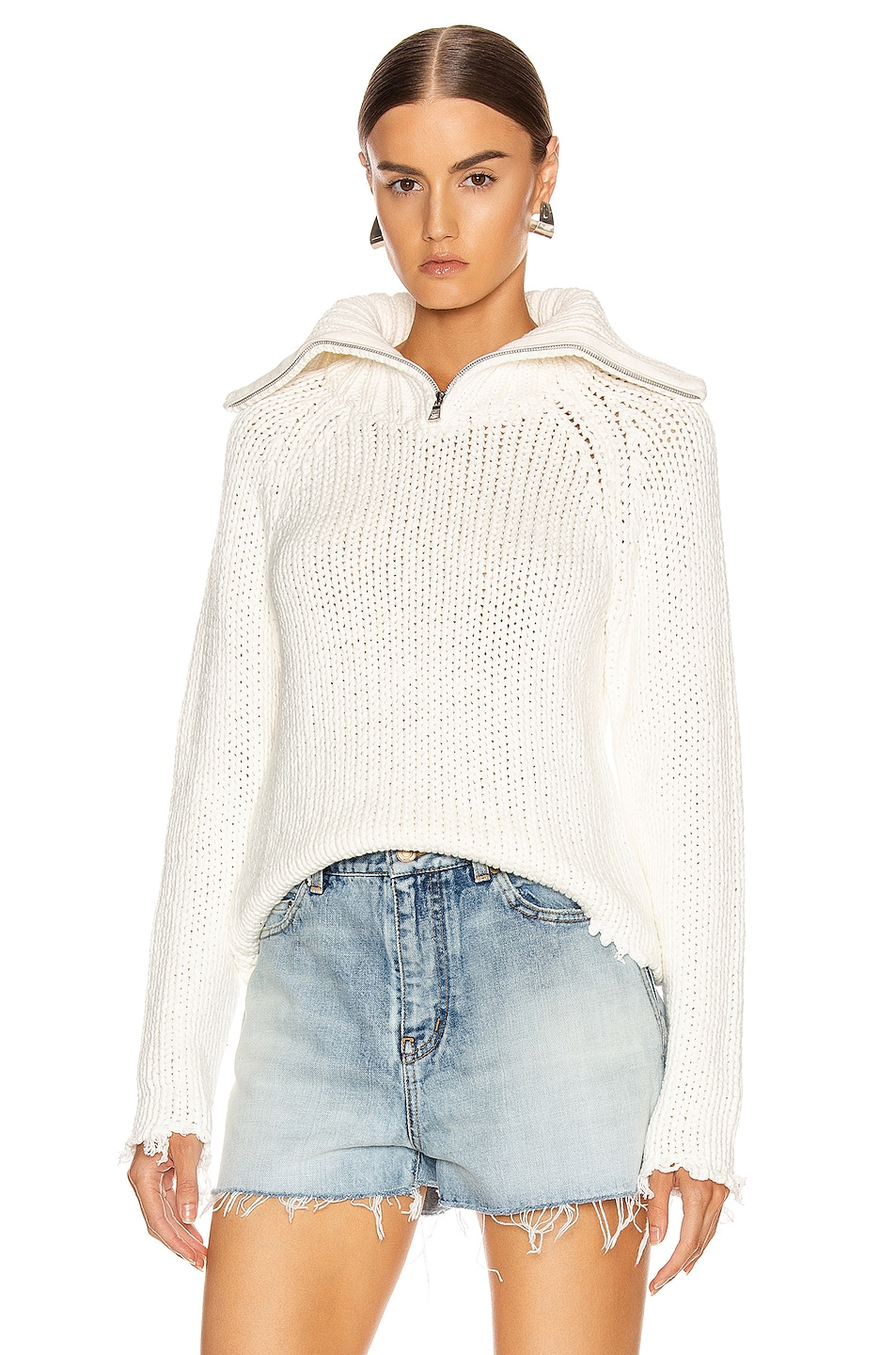 Image 1 of RtA Dom Sweater in White