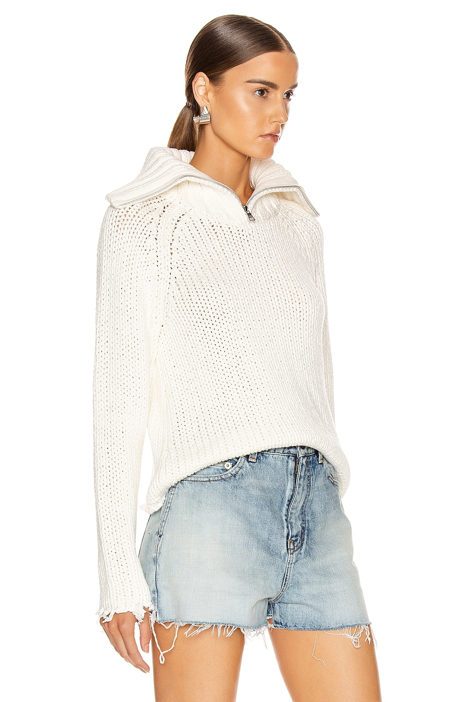 Image 2 of RtA Dom Sweater in White