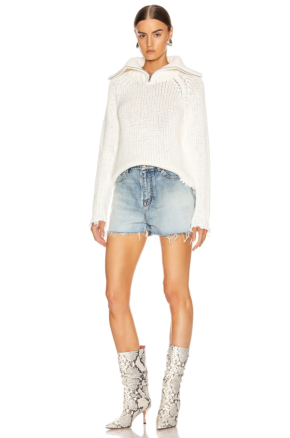Image 4 of RtA Dom Sweater in White