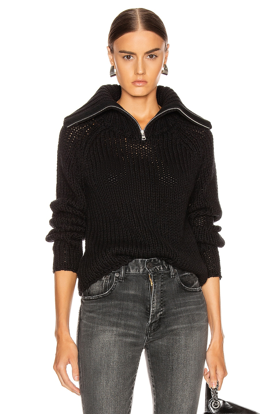 Image 1 of RtA Dom Sweater in Black