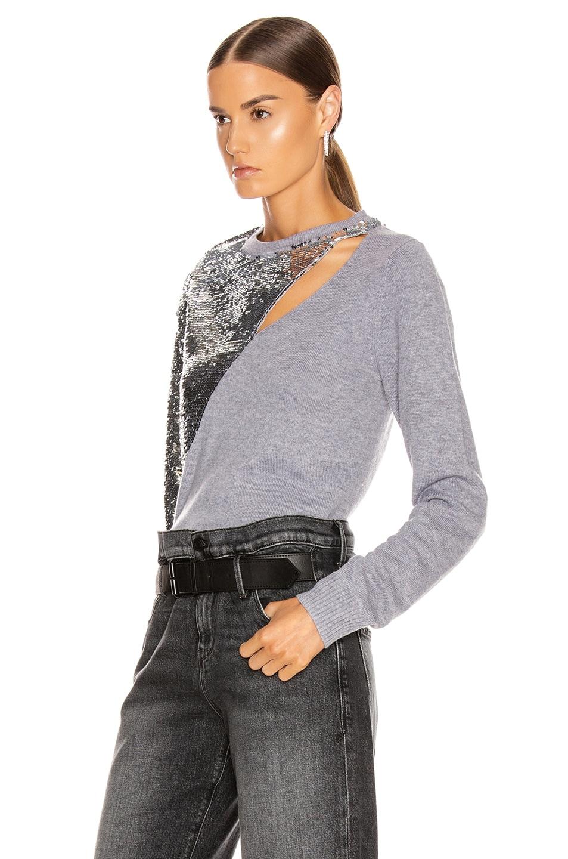 Image 3 of RtA Teagan Sweater in Heather Grey
