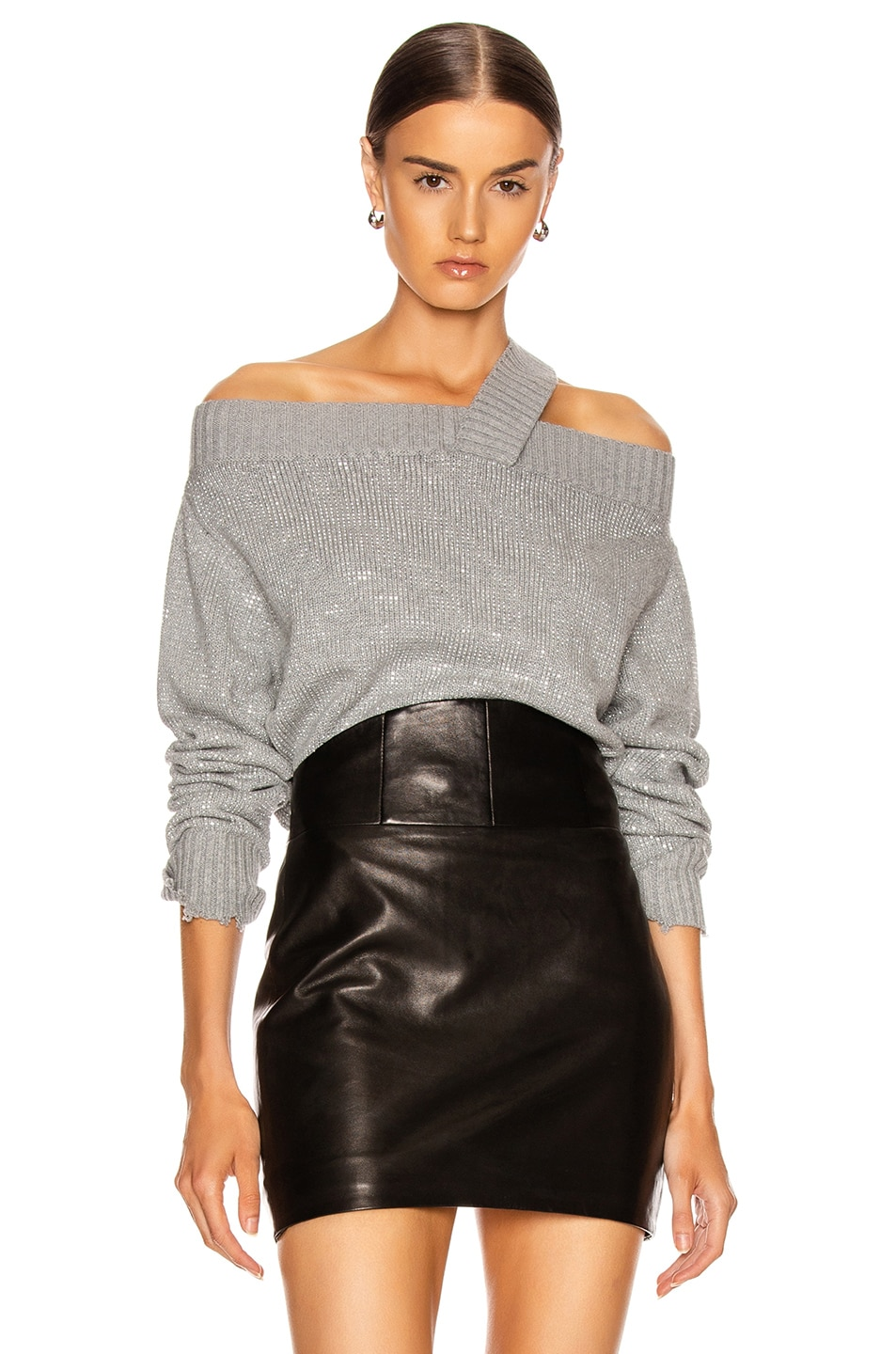 Image 1 of RtA Beckett Sweater in Silver Stud