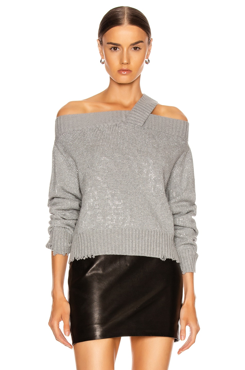 Image 2 of RtA Beckett Sweater in Silver Stud
