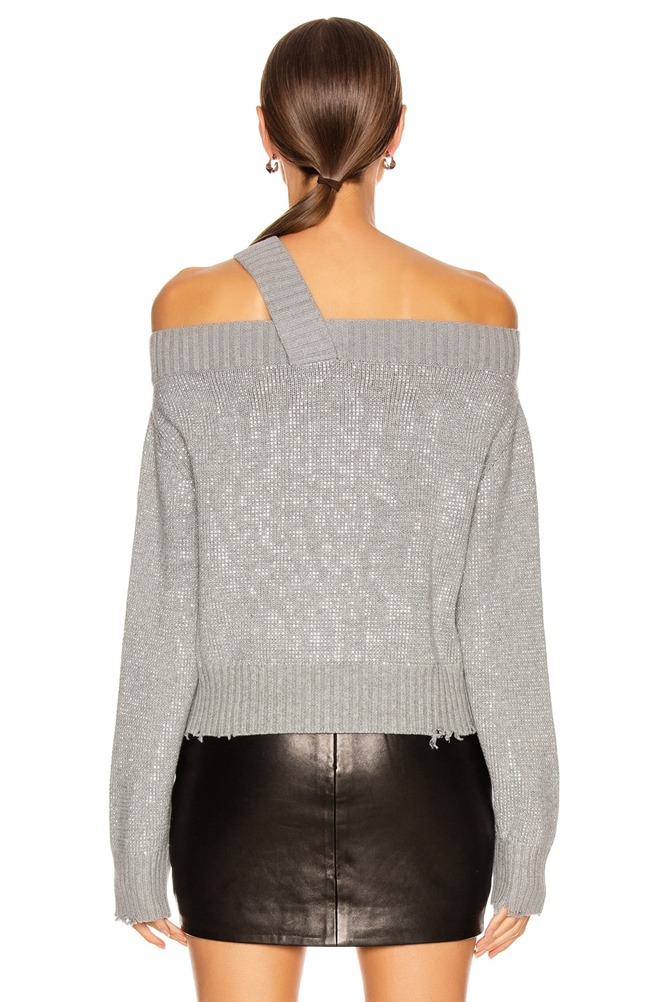 Image 5 of RtA Beckett Sweater in Silver Stud
