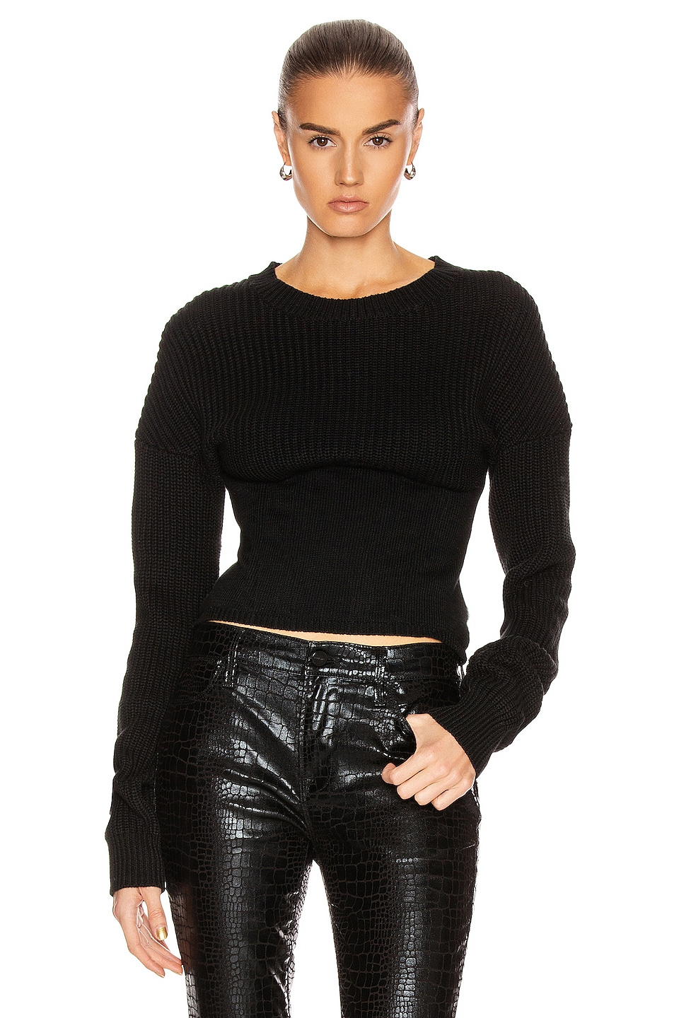Image 1 of RtA Fitz Sweater in Black