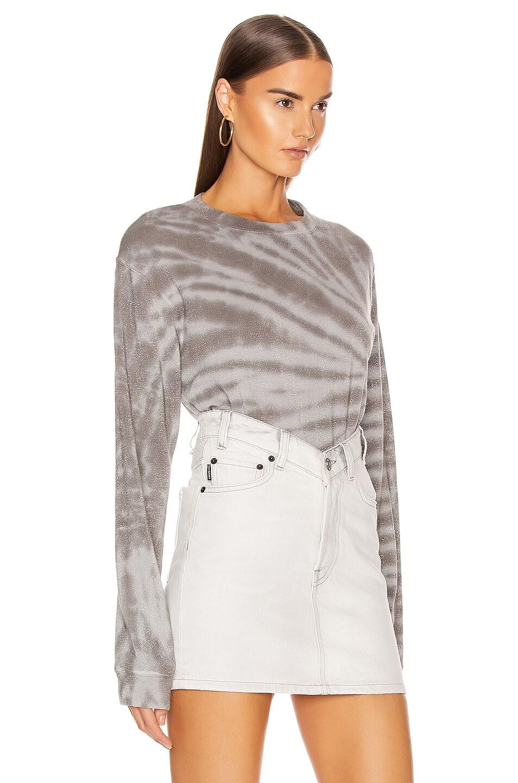Image 2 of RtA Emma Sweater in Titanium Tie Dye