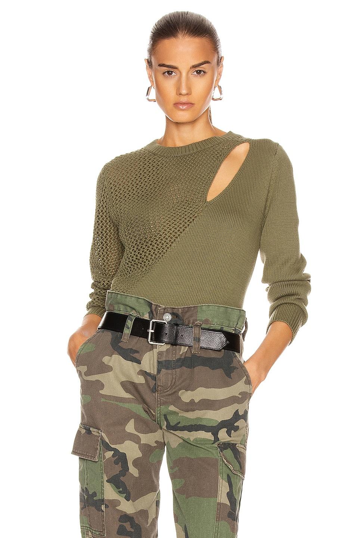 Image 1 of RtA Teagan Sweater in Army Mesh