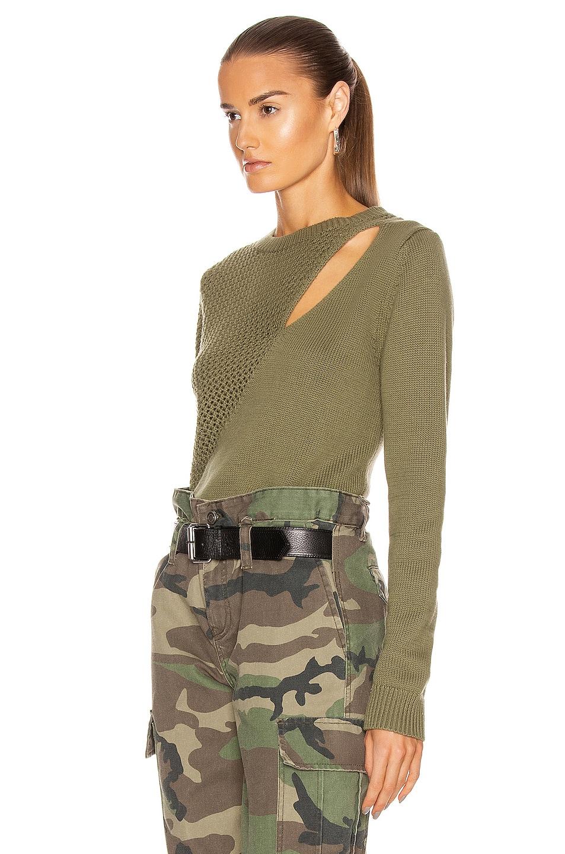 Image 3 of RtA Teagan Sweater in Army Mesh