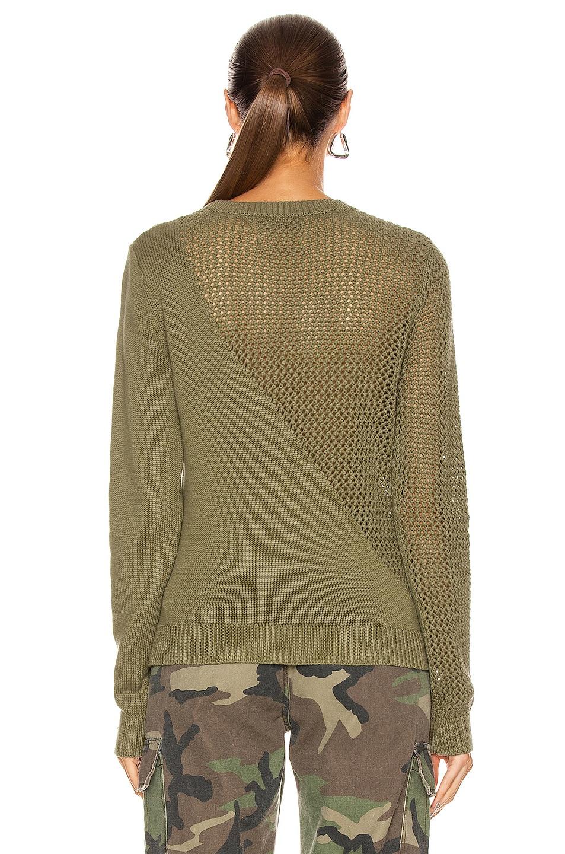 Image 4 of RtA Teagan Sweater in Army Mesh