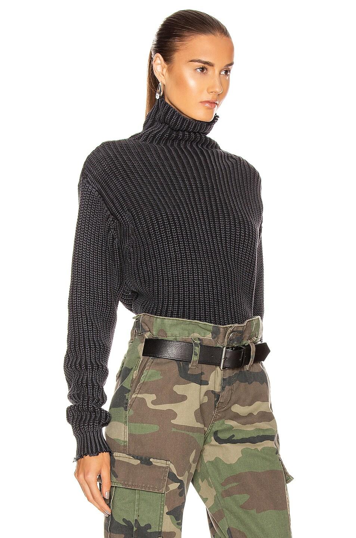 Image 3 of RtA Beau Sweater in Black Acid Wash