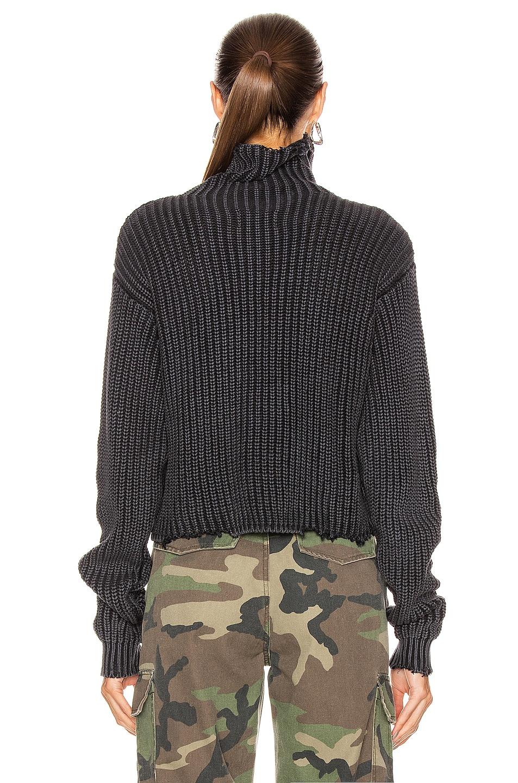 Image 4 of RtA Beau Sweater in Black Acid Wash