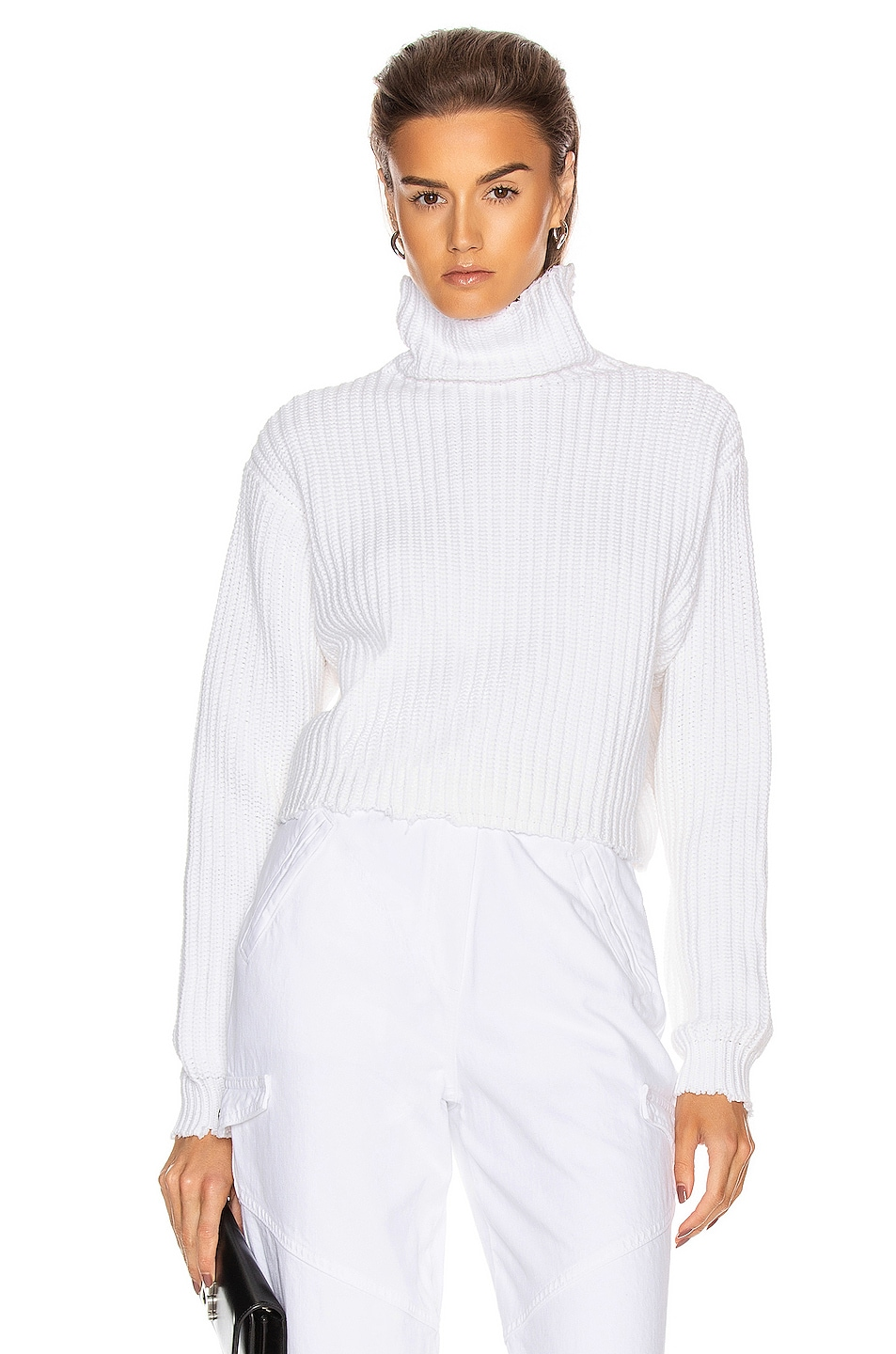 Image 1 of RtA Beau Turtleneck Sweater in White