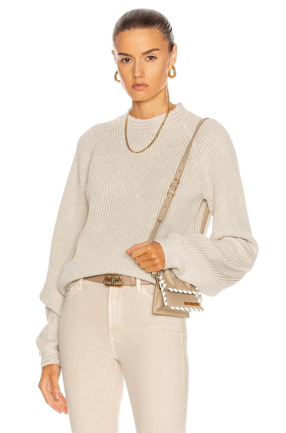 Image 1 of RtA Inaya Sweater in Parchment