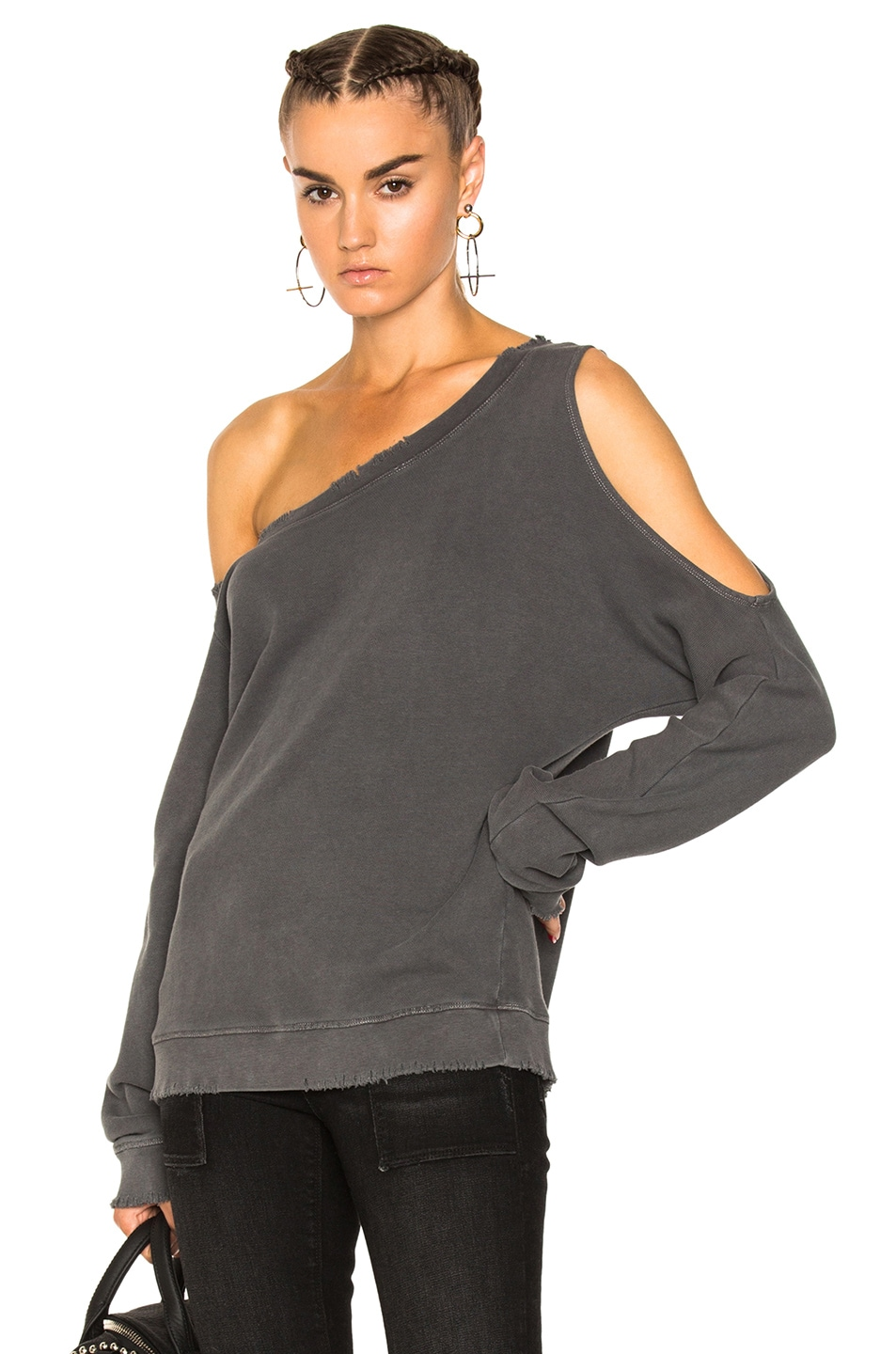 WILLOW DESTROYED COTTON SWEATSHIRT