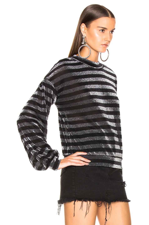 RtA Magnus Sweater Striped Silver 60%OFF