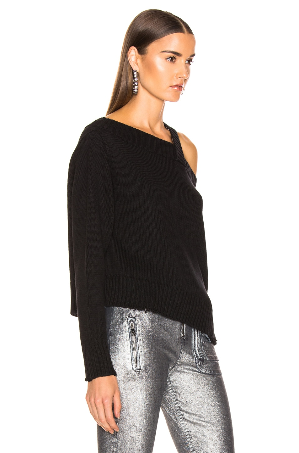Image 3 of RtA Beckett Sweater in Uno Black
