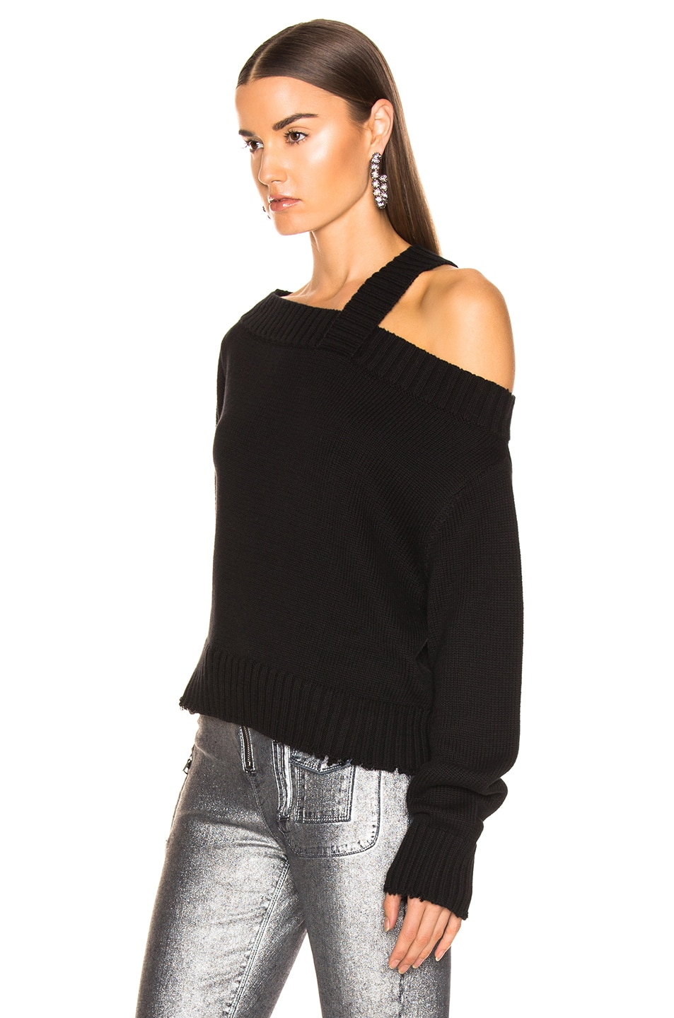 Image 4 of RtA Beckett Sweater in Uno Black