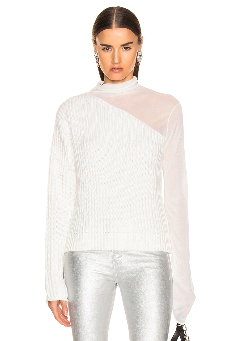 Image 1 of RtA Franny Sweater in Swish White