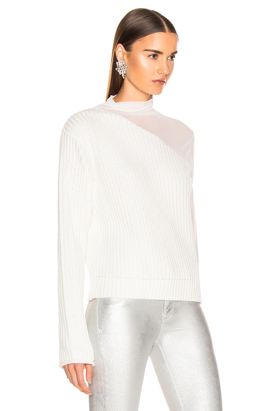 Image 2 of RtA Franny Sweater in Swish White