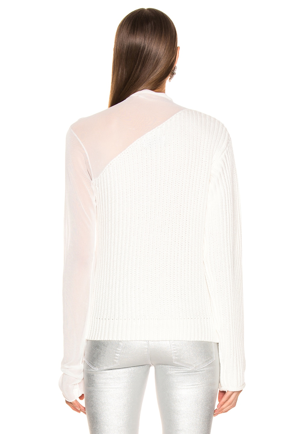 Image 4 of RtA Franny Sweater in Swish White
