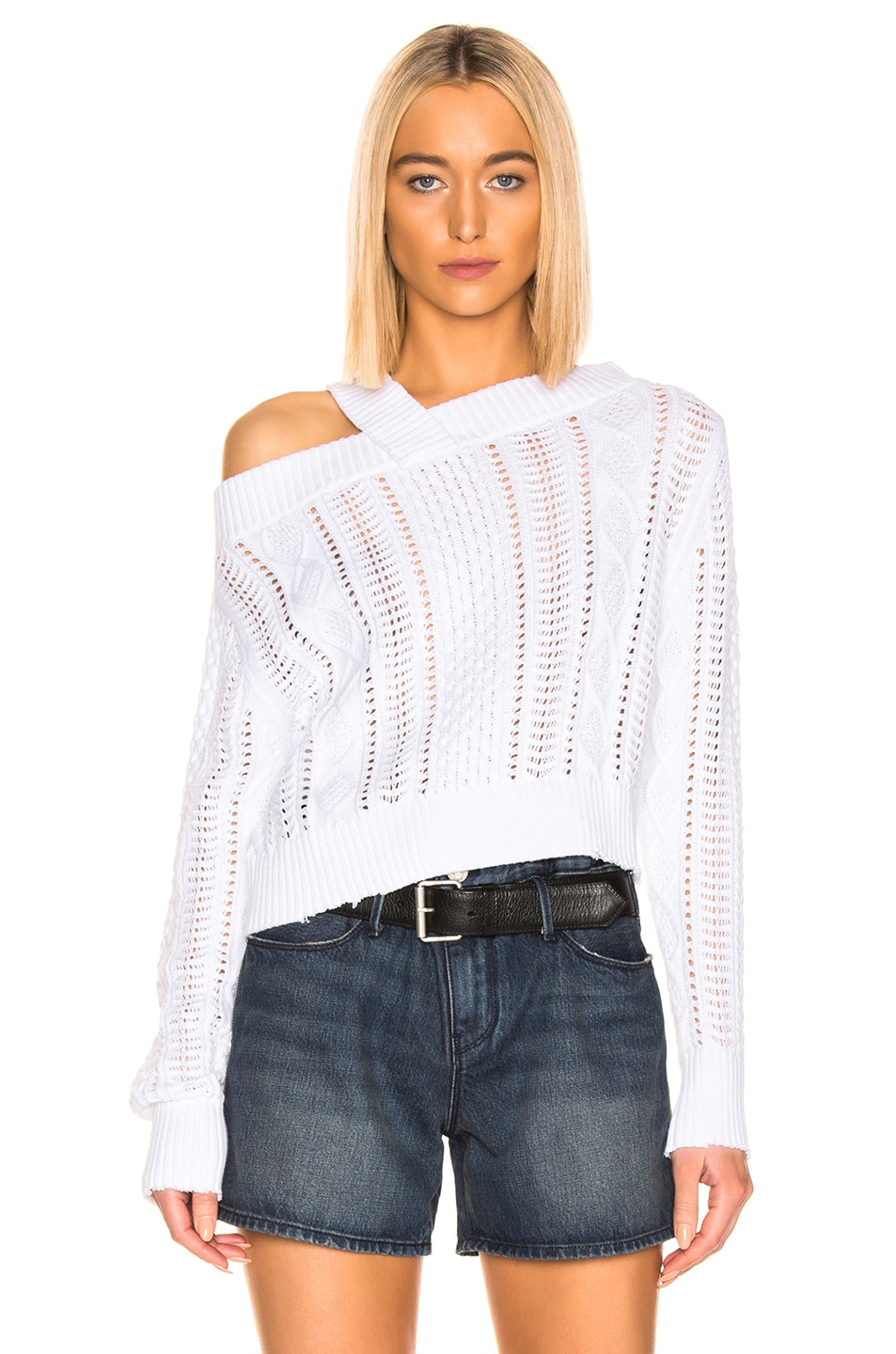 50%OFF RtA Beckett Sweater Blanc