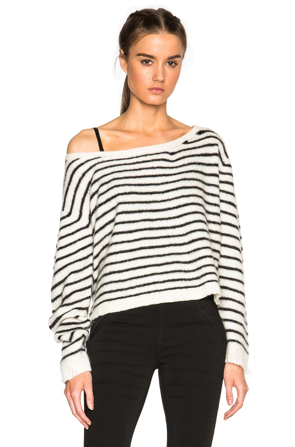 Image 1 of RtA Charlotte Sweater in Cloudy Pearl
