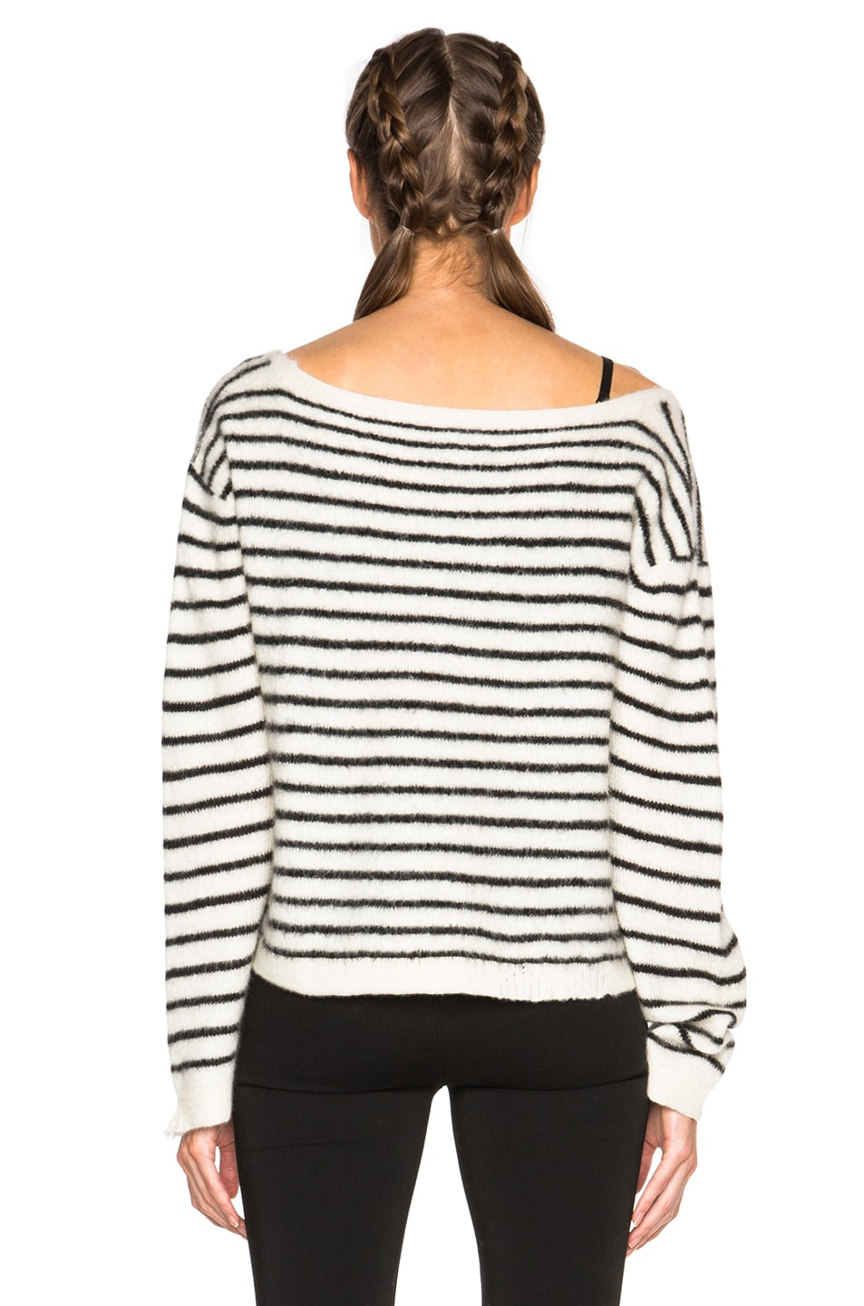 Image 4 of RtA Charlotte Sweater in Cloudy Pearl