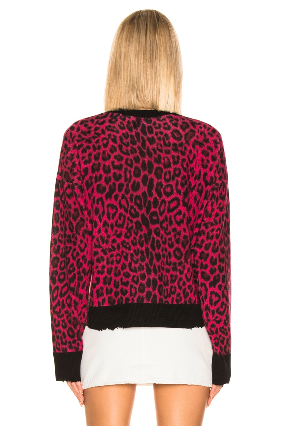 Image 3 of RtA Emma Sweater in Red Leopard Knit