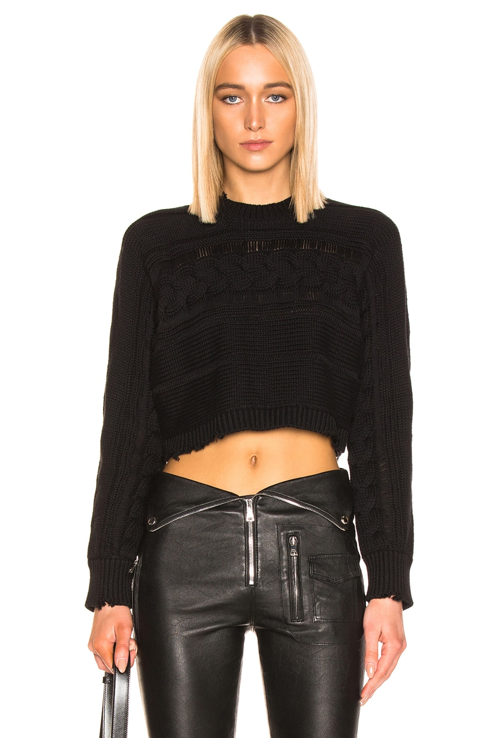 Image 1 of RtA Fever Sweater in Jet Black