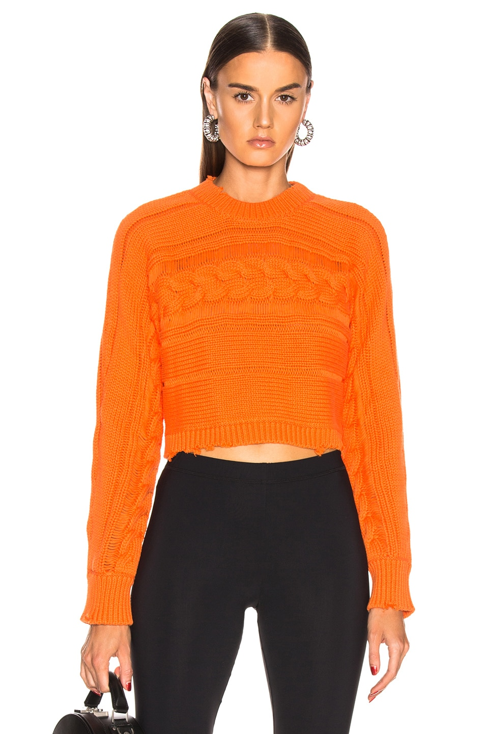 Image 1 of RtA Fever Sweater in Melon