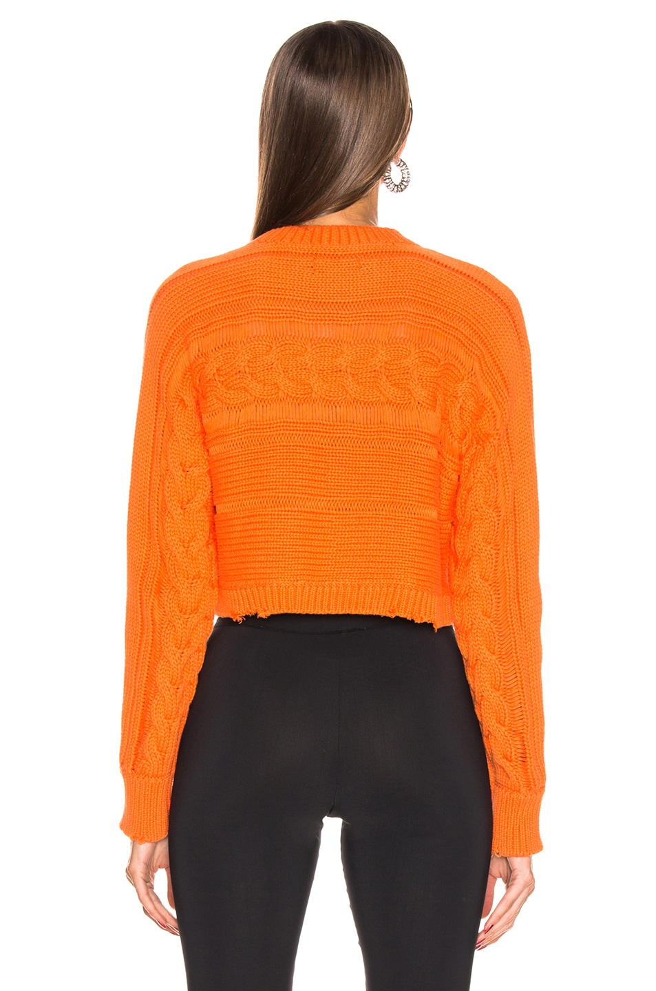 Image 3 of RtA Fever Sweater in Melon