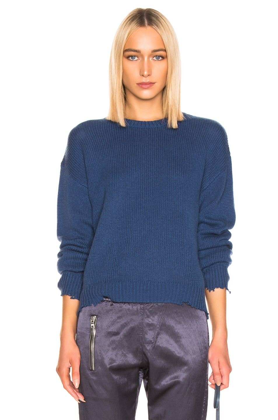 Image 1 of RtA Emma Sweater in Cerulean Blue